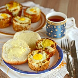 Baked Egg in Potato Cup