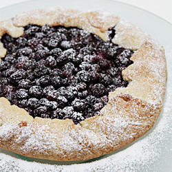 Blueberry crostata with Tequila