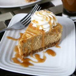 Pumpkin Cheesecake with Caramel