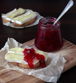 Rustic Toast with Camembert and Cranberry