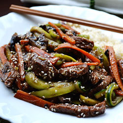 Sweet and Sour Beef Strips