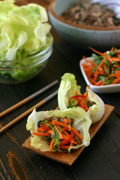 Thai Beef Lettuce Wraps with Basil