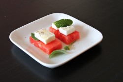 Watermelon with feta