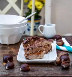 Cake with chestnuts and cardamom