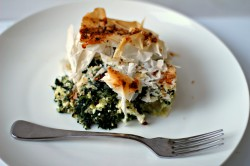 Cheese and Mixed Greens Filo Pie