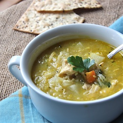 Chicken and Rice Peasant Soup