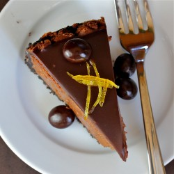 Chocolate Espresso-Orange Cheesecake