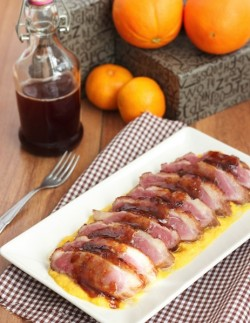 duck breast with mashed pumpkin