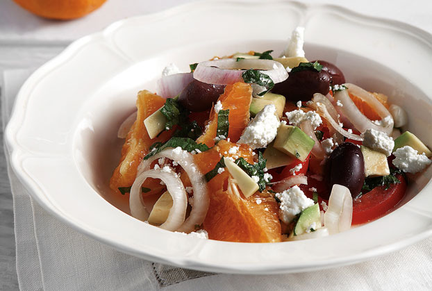 greek savory orange salad
