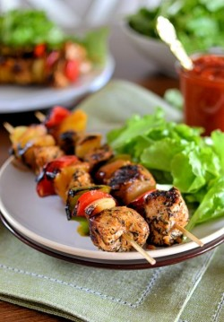 Ideal skewers on the grill.