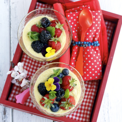 Lemon Cream With Berries