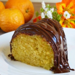 Orange Cake with Chocolate Glaze