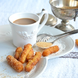 Churros with moccaccino