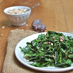 Kale-Miso Sauté with Dates