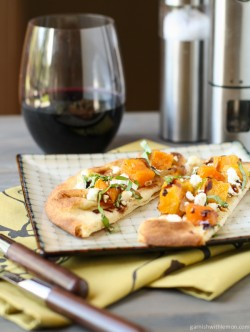 Naan Pizza with Butternut Squash