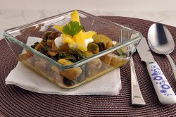 Potato Spinach Yellow Curry