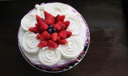 Birthday Cake with Classic Vanilla Frosting Recipe