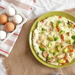 Chicken Vegetable Omelet Recipe