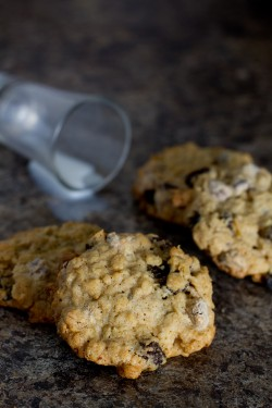 Choc Chip Oatmeal Raisin Cookies