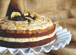 Chocolate Chip Banana Layer Cake