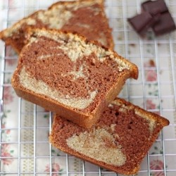 Chocolate Vanilla Buttermilk Marble Cake Recipe