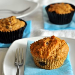 Coffee chocolate and raisins in one muffin perfect…
