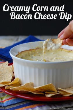 Creamy Corn and Bacon Cheese Dip