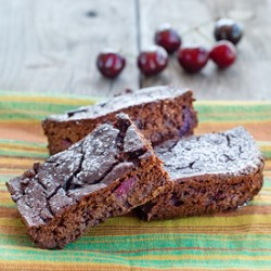 Double Chocolate Cherry Brownie