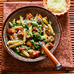 Easy Penne w/ Sweet Potatoes
