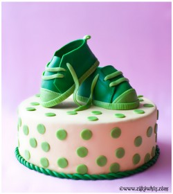 Fondant Baby Shoes Cake Toppers Tutorial