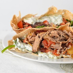 Greek Crockpot Lamb Pita