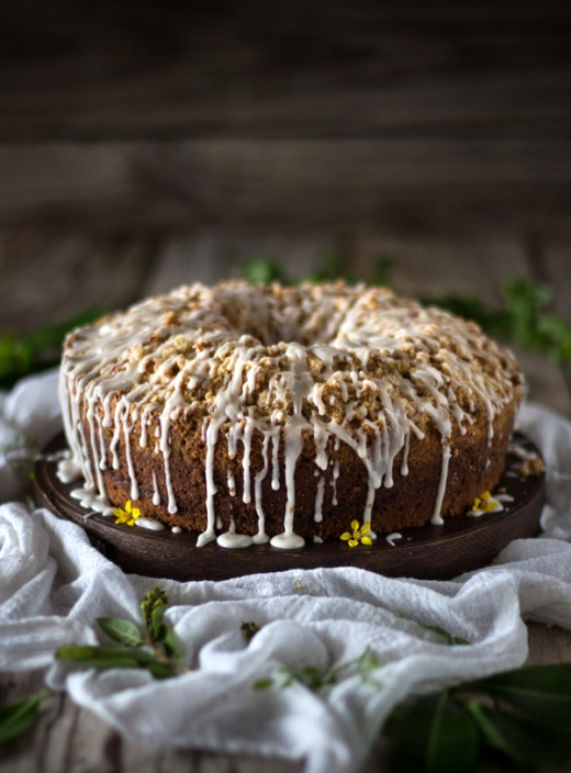 Mango and Coconut Coffee Cake