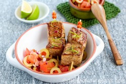 Marinated Tuna Kebabs with Green