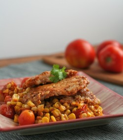 Mexican Corn and Tomato Skillet with Fish Recipe