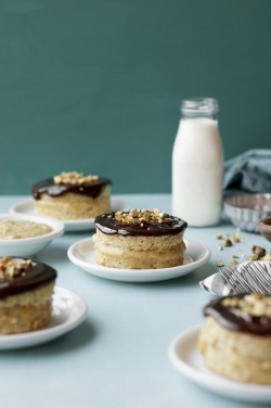 Mini Pistachio Boston Cream Pies