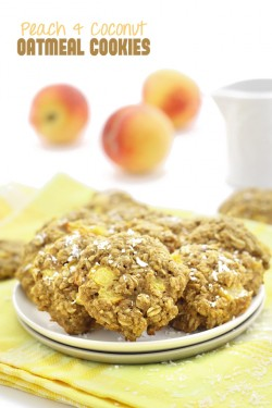 Peach and Coconut Oatmeal Cookies