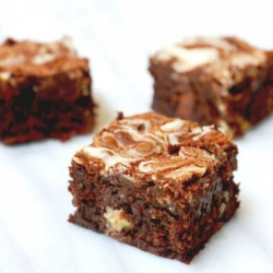 Quadruple chocolate brownies