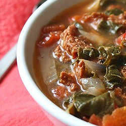 Sausage, Bean and Spinach Soup