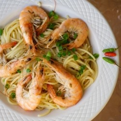 Spicy Shrimp and Clams Pasta