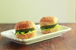 Spinach and Chick Pea Burgers