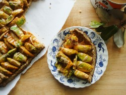 Sprout and Tahini Pie