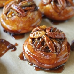 Sticky Buns with Dates and Cranberries
