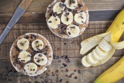 Almond Butter and Banana Rice Cakes