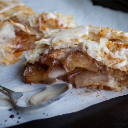 Apple Pear Strudel with Maple Glaze