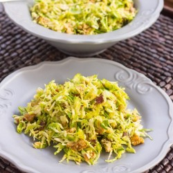Bacon and Brussel Sprouts Salad