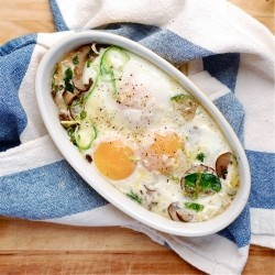 Baked Eggs with Brussels Sprouts