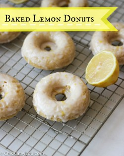 Baked Lemon Donuts made with Greek