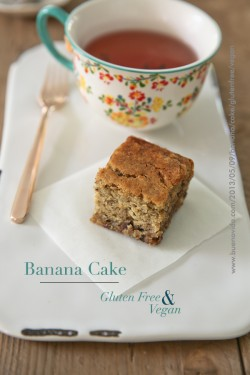 Banana Cake Gluten Free and Vegan