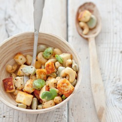 Beans Paneer and Cashews