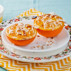 Broiled Oranges and Toasted Coconut